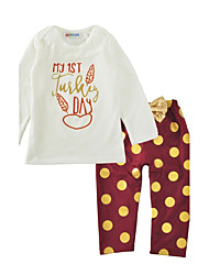 Baby Boy's Outdoor Indoor Casual/Daily Fashion Print Clothing SetDot Cartoon Spring/Fall Winter