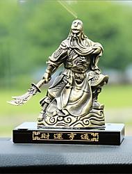Diy ornements automobiles décoration d'intérieur en bronze meubles à domicile guan gong parfum siège riches pendentif voiture