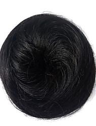 abordables -Peluca sintética mujeres chigón sintético pelo negro chigons peinado rizado