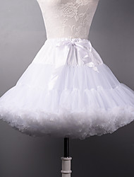cheap -Wedding Party & Evening Halloween Bridal Shower Slips Polyester Tulle Short-Length A-Line Slip Ball Gown Slip With