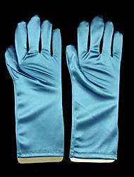 cheap -Elastic Satin Wrist Length Glove Anime / Bridal Gloves With Ruffles