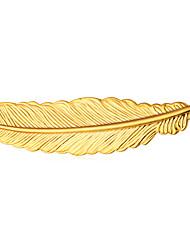 Per uomo Per donna Spille Gioielli Di tendenza Personalizzato Placcato in oro Lega Piume Gioielli Per