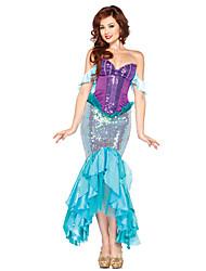 Coda da Sirena Fiabe Cosplay Un Pezzo/Vestiti Donna Unisex Halloween Carnevale Feste/vacanze Costumi Halloween Viola Vintage