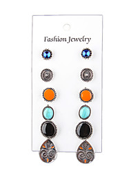 cheap -The 6 Bohemia Vintage Jewelry Multicolor Suit Alloy Earrings