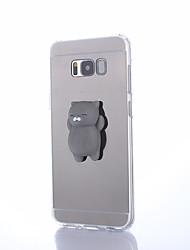 Недорогие -Кейс для Назначение SSamsung Galaxy S8 Plus S8 Зеркальная поверхность Своими руками болотистый Задняя крышка Кот Сплошной цвет 3D в
