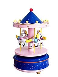 abordables -Boîte à musique Cheval Carrousel Enfant Adultes Enfants Cadeau Unisexe