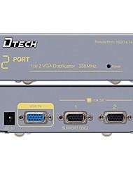DTech VGA Splitter VGA to VGA Splitter Female - Female 1080P One Input Two Output