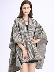 Women's Roman Knit Rectangle Color Block Fall Winter