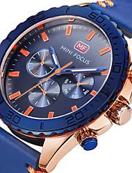 abordables -Hombre Reloj Deportivo / Reloj Militar / Reloj de Pulsera Creativo / Reloj Casual / Cool Cuero Auténtico Banda Encanto / Lujo / Casual Negro / Azul / Dos año / Maxell SR626SW
