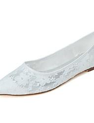 economico -Per donna Scarpe A rete Primavera / Estate Ballerina scarpe da sposa Piatto Appuntite Bianco / Nero / Rosa / Matrimonio / Serata e festa