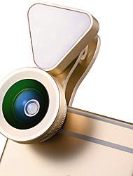 Cherllo 035 Mobile Phone Lens 0.6X Wide Angle 15x Macro 10 LED External Lens