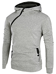 Hot Men's Plus Size Sports Holiday Casual/Daily Hoodie Color Block Oversized Hooded Micro-elastic Cotton Nylon Long Sleeve Fall Winter