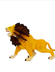abordables -Puzzles 3D Puzzle Lion Articles d'ameublement A Faire Soi-Même En bois Bois Classique Enfant Cadeau