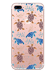 cheap -Case For Apple iPhone 7 Plus iPhone 7 Transparent Pattern Back Cover Animal Soft TPU for iPhone 7 Plus iPhone 7 iPhone 6s Plus iPhone 6s