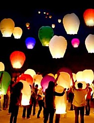 cheap -10Pcs/Set    Multi Color High Quality Chinese Lantern Fire Sky Fly Candle Lamp For Birthday Wedding Party Lantern Wish Lamp Sky Lanterns