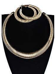 Per donna Orecchini a goccia Collana Personalizzato bigiotteria Lega Circolare A tubo Di forma geometrica Per Feste Appuntamento Bikini