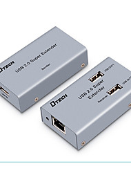 cheap -DTech USB 2.0 Splitter USB 2.0 to Cat 5e UTP Cat 6e UTP Splitter Female - Female