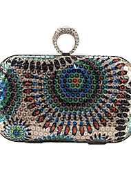 cheap -Women Bags Polyester Evening Bag Rhinestone Sequined for Wedding Event/Party Formal All Seasons Blue Gold Green Red Gray