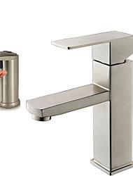 Недорогие -Современный Чаша Широко распространенный Керамический клапан Одно отверстие Матовый , Ванная раковина кран