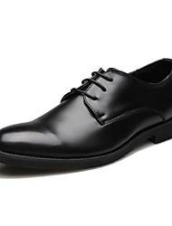cheap -Men's Shoes Nappa Leather Spring Fall Comfort Novelty Oxfords Walking Shoes Lace-up For Wedding Dress Party & Evening Office & Career