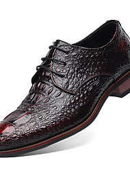 cheap -Men's Shoes Real Leather Cowhide Winter Spring Summer Fall Novelty Formal Shoes Oxfords Split Joint For Casual Party & Evening Outdoor