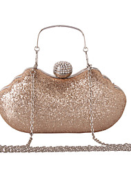 cheap -Women's Bags leatherette Evening Bag Rhinestone Sequin Metal Chain for Wedding Event/Party Formal All Seasons Blue Gold Black Silver
