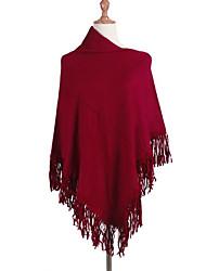 preiswerte -Damen Lang Mantel / Capes-Lässig/Alltäglich Einfach Solide Schulterfrei Ärmellos Baumwolle Herbst Winter Mittel Mikro-elastisch
