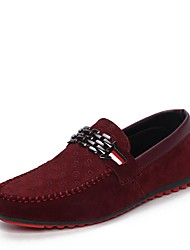 cheap -Men's Shoes PU Spring / Fall Comfort / Light Soles Loafers & Slip-Ons Walking Shoes Black / Red / Blue