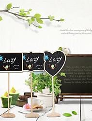 abordables -10pcs decoración de la boda mini pizarra asiento de la pizarra boda lolly corazón retangle patrón partido etiqueta