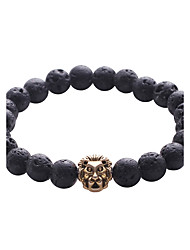 cheap -Men's Turquoise Strand Bracelet - Natural Cute Style Fashion Circle Black Bracelet For Party Gift Office & Career