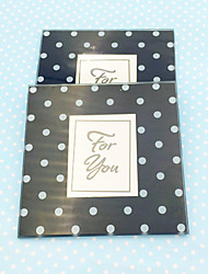 2pcs/box - Black and White Dot Photo Coaster Wedding Favor Beter Gifts® Tea Party Gifts