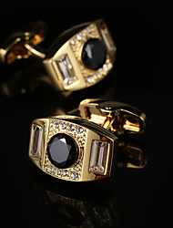 cheap -Geometric Golden Cufflinks Fashion Gift Boxes & Bags Men's Costume Jewelry