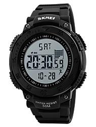 abordables -Hombre Reloj Deportivo Reloj Militar Reloj de Pulsera Reloj digital Japonés Digital Calendario Podómetro Cronómetro Noctilucente Caucho