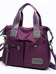 cheap -Women Bags Nylon Tote for Event/Party Casual Formal Outdoor Office & Career All Seasons Blue Black Purple Fuchsia