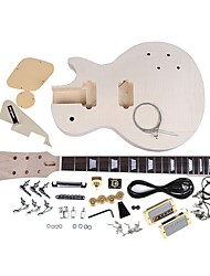 LP Style Electric Guitar DIY Kit Set Mahogany Body