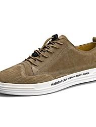economico -Da uomo Sneakers Comoda Pelle Estate Autunno Casual Footing Più materiali Basso Nero Grigio Cachi 2,5 - 4,5 cm
