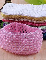 1 Piece Tulle Tutu Crochet Elastic Knit Headbands Apparel Sewing Fabric DIY Baby Girl Headband Birthday Party Baby Shower Gifts