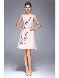 levne -Dámské Pouzdro Šaty - Jednobarevné, Tisk