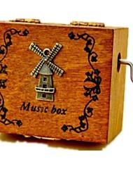 abordables -Petites Voiture Boîte à musique Moulin à vent Moulin à vent Carrousel Rétro Rétro Enfant Adultes Enfants Cadeau Unisexe