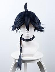 abordables -blanco mes azul largo pequeño trenzado cosplay sintético caplss pelucas