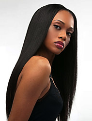 cheap -Synthetic Wig Natural Straight Middle Part Synthetic Hair Heat Resistant / Fashion Black Wig Women's Long Capless