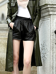 Dámské Jednoduchý Není elastické Široké nohavice Kraťasy Kalhoty Široké nohavice Mid Rise Jednobarevné