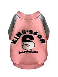 preiswerte -Hund Pullover Hundekleidung Lässig/Alltäglich Buchstabe & Nummer Gelb Rosa Kostüm Für Haustiere