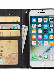 Case For Apple IPhone 7 Plus 7 Case Cover Card Holder Wallet with Stand Flip Full Body Case Solid Color Hard PU Leather 6sPlus 6Plus 6s 6