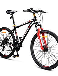 Geländerad Radsport 24 Geschwindigkeit 26 Zoll/700CC SHIMANO EF-51 Doppelte Scheibenbremsen Federgabel Stahlrahmen Rutschfest PVC Stahl