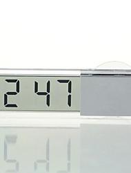 abordables -Ziqiao coche reloj electrónico pantalla de cristal líquido lcd timer de coche reloj digital con ventosa