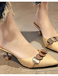 Femme Chaussures Cuir Nubuck Printemps Eté Confort Chaussures à Talons Pour Décontracté Noir Beige Jaune