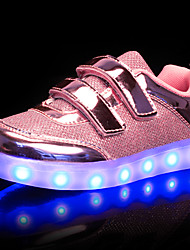cheap -Girls' Shoes Synthetic Winter Fall Light Up Shoes Sneakers LED For Wedding Casual Outdoor Gold Silver Pink