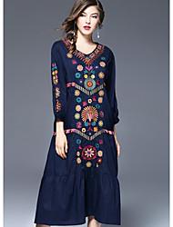 cheap -FRMZ Women's Sheath Dress - Floral Print V Neck