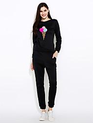 cheap -Women's Blouse Set - Solid Pant